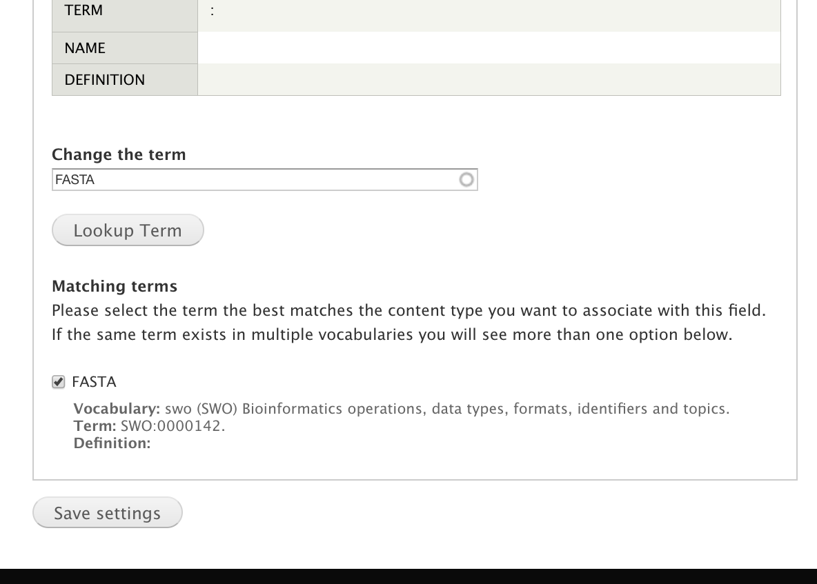 Exporting Field Settings With Drupal Features — Tripal 7 x-3