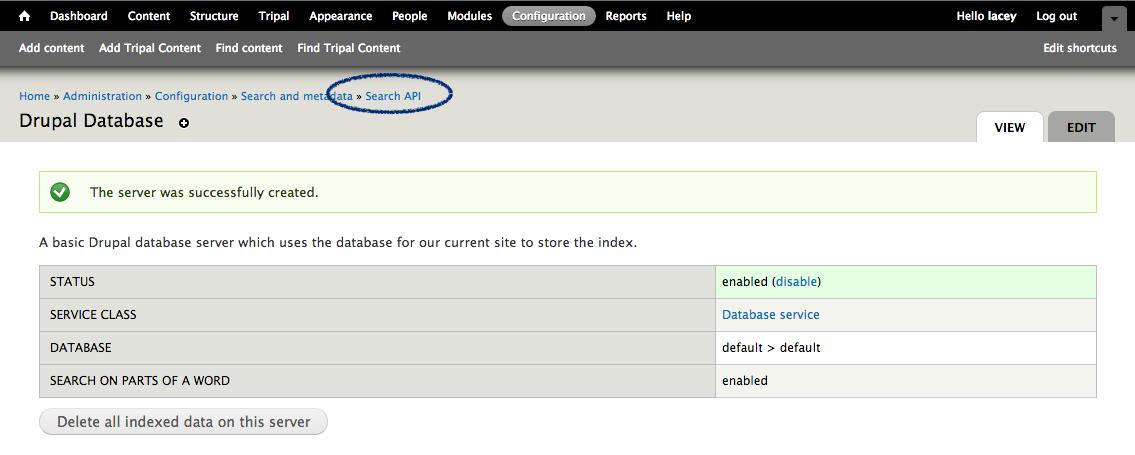 Search API Module: Site-Wide Searching — Tripal 7 x-3 x